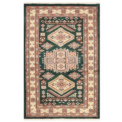 Handmade One-of-a-Kind Bokhara Wool Rug (Pakistan) - 2'7 x 4'