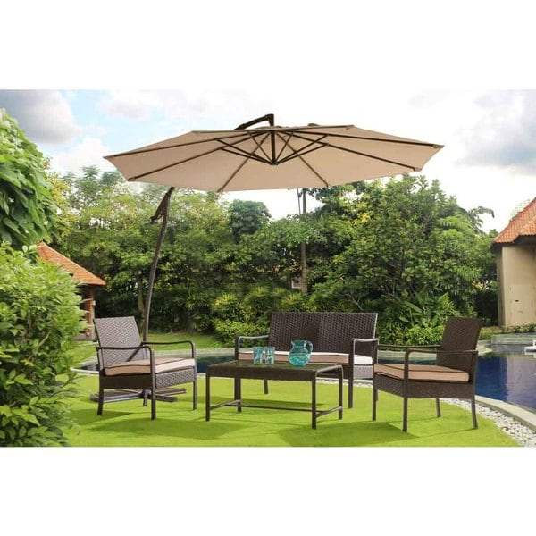 2d372a19cc3 Shop Sunjoy Lisa Aluminum 10-foot Arced Offset Umbrella - Free Shipping  Today - Overstock - 15260335
