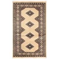 Handmade Herat Oriental Pakistani Bokhara Wool Rug (Pakistan) - 3'1 x 5'2