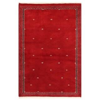 Herat Oriental Pakistani Hand-knotted Bokhara Wool Rug (3' x 4'7)