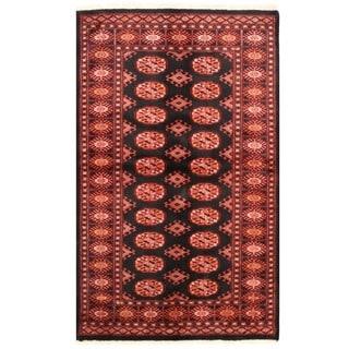 Herat Oriental Pakistani Hand-knotted Bokhara Wool Rug (3'2 x 5'4)