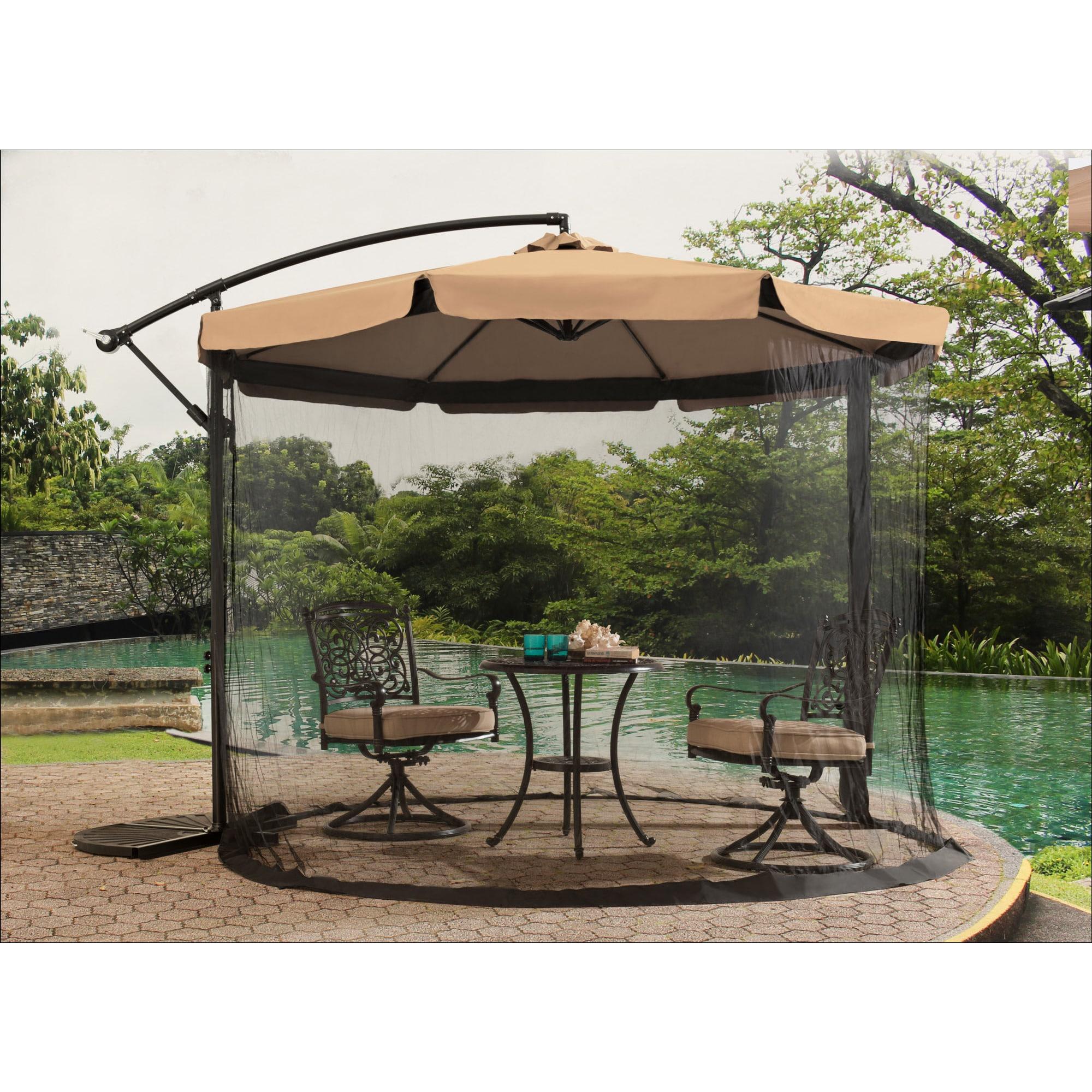 SunJoy Netted Umbrella (Brown), Black, Size 10-foot (Stee...