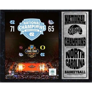 12x15 Plaque North Carolina Men's Basketball 2017 Championship