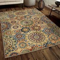 Chic Du Jour Collection Casablanca Tile Multi Rug - 7'10 x 10'10