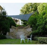 Cool Area Triangle 11 Feet 5 Inches Sun Shade Sail, UV Block Fabric Sail Perfect for Outdoor Patio Gardenin Color Graphite