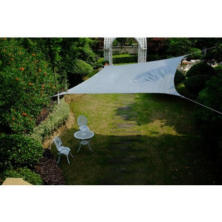 Cool Area Square 16 Feet 5 Inches Sun Shade Sail, UV Block Patio Sail Perfect for Outdoor Patio Gardenin Color Silvery