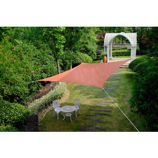Cool Area Square 16 Feet 5 Inches Sun Shade Sail, UV Block Patio Sail Perfect for Outdoor Patio Gardenin Color Terra