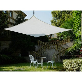 Cool Area Square 16 Feet 5 Inches Sun Shade Sail, UV Block Patio Sail Perfect for Outdoor Patio Gardenin Color White