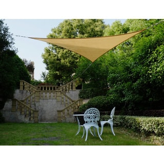 Cool Area Right Triangle 16'5'' Sun Shade Sail for Patio in Color Sand