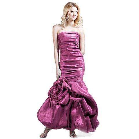 DFI Women's Ruched Mermaid Prom Dress
