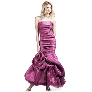 DFI Women's Ruched Mermaid Prom Dress