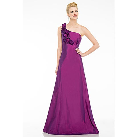 DFI Women's One-Shoulder Prom Dress