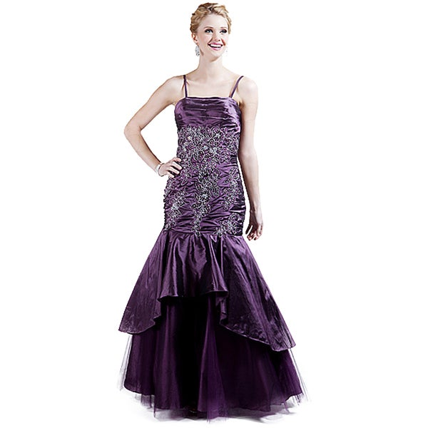 Shop DFI Women\'s Tiered Skirt Prom Dress - On Sale - Free Shipping ...