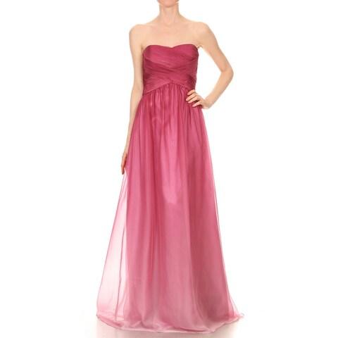 DFI Women's Strapless Ombre Prom Dress