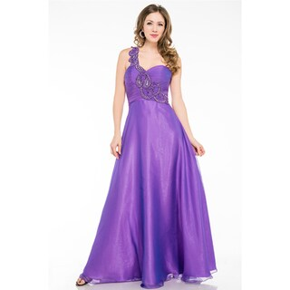 DFI Women's One Shoulder Prom Dress