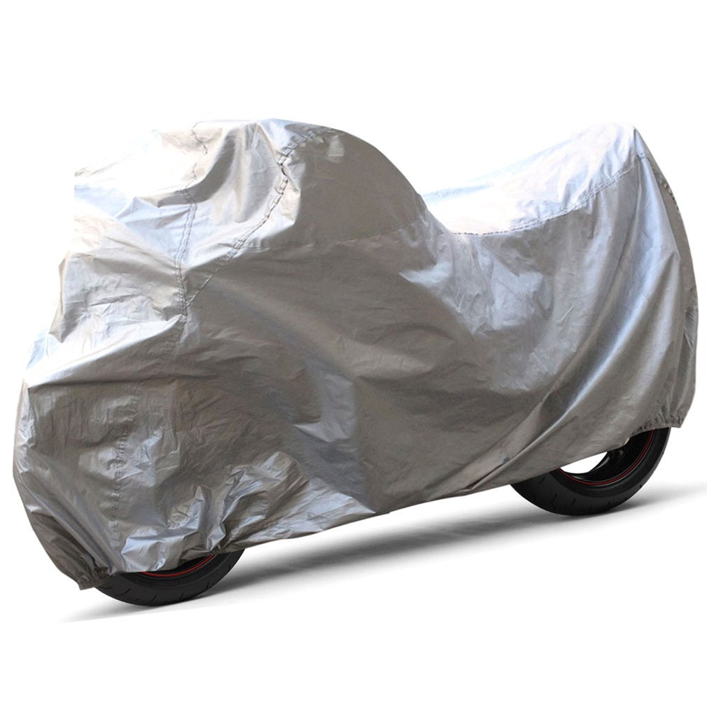 Silver Waterproof Motorcycle Scooter Cover (XL) (Cover), ...