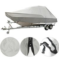 17-20ft Square Waterproof Heavy Duty 600D Trailerable Pontoon Boat Cover