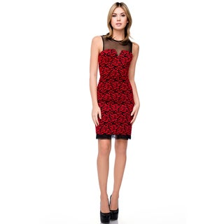 DFI Floral Lace Mesh Dress