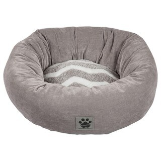 Snoozzy Hip as a Zig Zag Donut Shearling Pet Bed