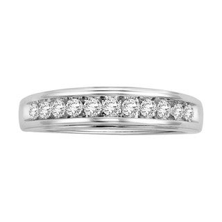 Cambridge 14k White Gold 3/ 8ct TDW Channel-set Diamond Wedding Band
