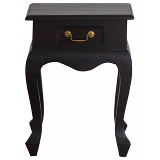 Handmade NES Fine Furniture Solid Mahogany Wood Queen Anne Lamp Table (Indonesia)