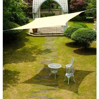Cool Area Rectangle 9'10'' X 13' Sun Shade Sail, UV Block Patio Sail Perfect For Outdoor Patio Gardenin Color Sand
