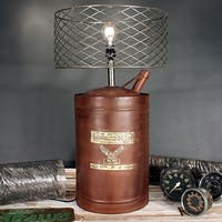 Rivet and Rust Oil Can Lamp