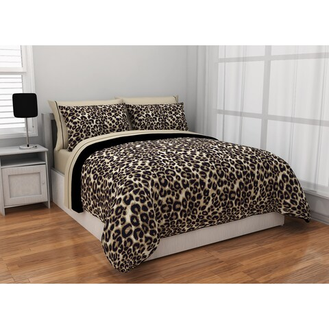 Formula Brushstroke Cheetah Reversible 7-piece Bed in a Bag Set