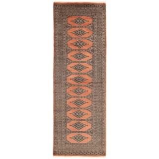Herat Oriental Pakistani Hand-knotted Bokhara Wool Runner (2'7 x 7'11)