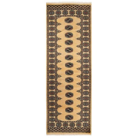 Handmade Bokhara Wool Runner (Pakistan) - 2'6 x 7'7