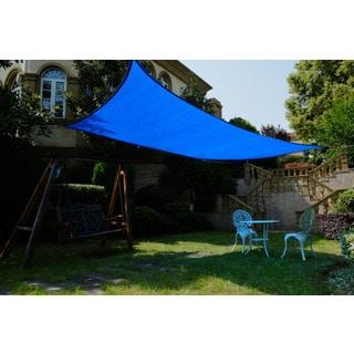 Cool Area Rectangle 9'10'' X 13' Sun Shade Sail, UV Block Patio Sail Perfect For Outdoor Patio Gardenin Color Blue