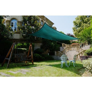 Cool Area Rectangle 9'10'' X 13' Sun Shade Sail, UV Block Patio Sail Perfect For Outdoor Patio Gardenin Color Green