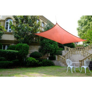 Cool Area Rectangle 9'10'' X 13' Sun Shade Sail, UV Block Patio Sail Perfect For Outdoor Patio Gardenin Color Red