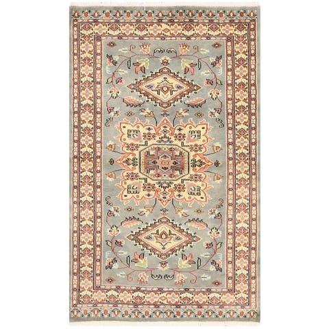 Handmade One-of-a-Kind Bokhara Wool Rug (Pakistan) - 3'1 x 5'