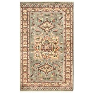 Herat Oriental Pakistani Hand-knotted Bokhara Wool Rug (3' x 5'1)