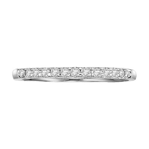 Cambridge Jewelry 14k White Gold 1/4ct TDW Diamond Anniversary Band