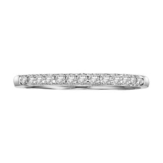 Cambridge Jewelry 14k White Gold 1 4ct TDW Diamond Anniversary Band