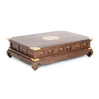 Handmade NES Fine Solid Mahogany Wood Ming Coffee Table - 59 inches (Indonesia)