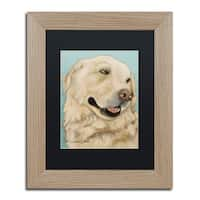Pat Saunders-White 'Jasper' Matted Framed Art - White