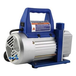 1/4HP 3CFM Vacuum Pump R134a Aluminum Manifold Gauge QC19 Adapter Kit