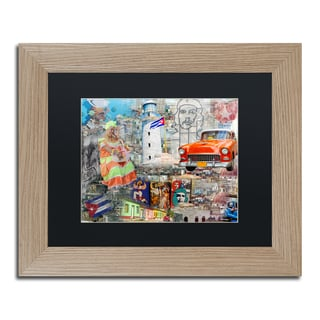 Alberto Lopez 'Red Taxi' Matted Framed Art