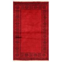Herat Oriental Pakistani Hand-knotted Bokhara Wool Rug (3' x 4'11)