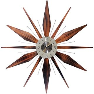 30-inch Starburst Wall Clock Utopia by Infinity Instruments|https://ak1.ostkcdn.com/images/products/15262167/P21733351.jpg?impolicy=medium