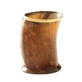 Buffalo Horn Vase with Copper Finish