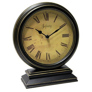 Laurel Creek Kenton Wood 10.25-inch Tabletop Clock