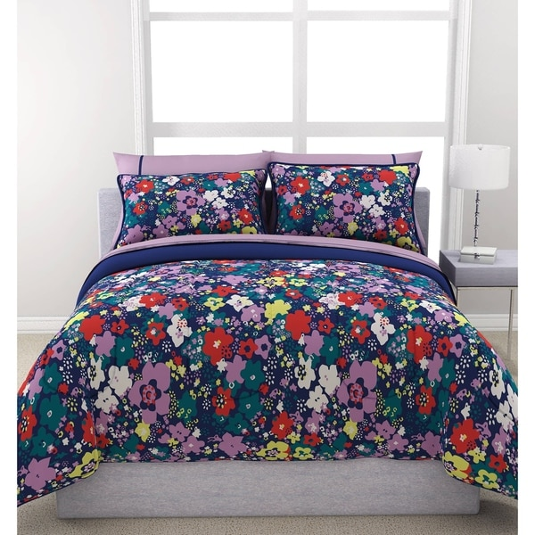 Formula Ditsy Floral Navy Reversible 7-piece Bed in a Bag Set
