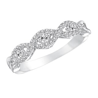 Cambridge 14k White Gold 1/4ct TDW Diamond Anniversary Band