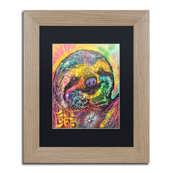 Dean Russo 'Sloth' Matted Framed Art