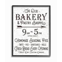 The Old Bakery and Pasty Shop Vintage Sign Framed Giclee Texturized Art