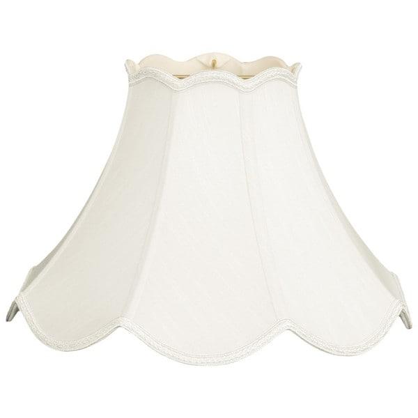 Royal Designs Scalloped Bell Designer Lamp Shade, White, 6 x 14 x 10